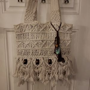 Lucky Brand Macrame tote Purse
